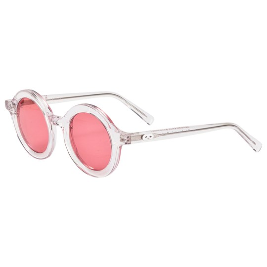 Beau Loves Rounded Sunglasses Rose Clear Rose Tinted Lenses