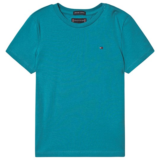 Tommy Hilfiger Small Flag T-Shirt Exotic Teal CTX