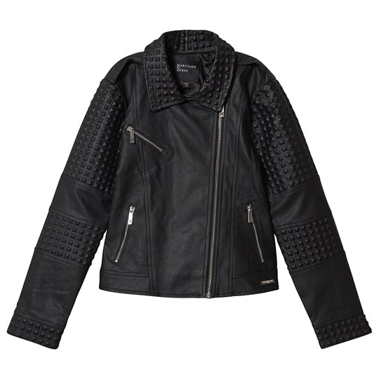 Guess Marciano Studded Pleather Cropped Jacket Black JBLK