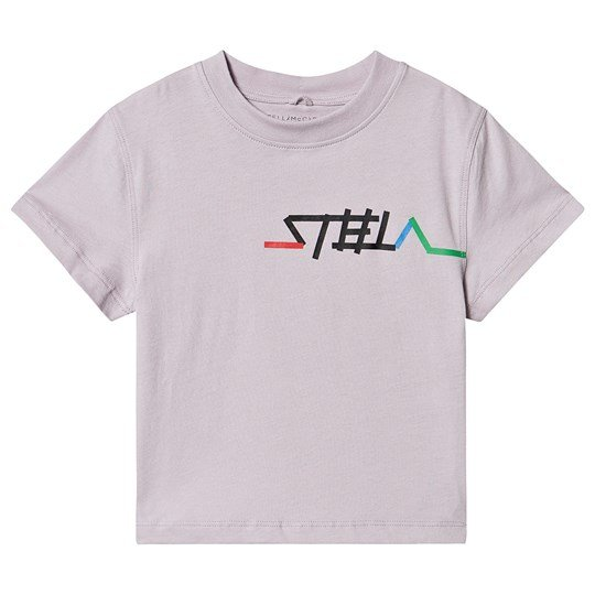 Stella McCartney Kids Logo T-shirt Lilla 5351
