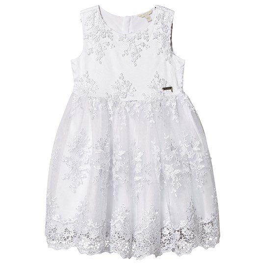 Guess Lace Applique Tulle Dress White TWHT