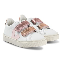 Veja Esplar Leather Sneakers Extra White and Petal Venus