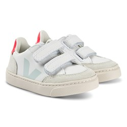 Veja V-12 Leather Sneakers Extra White and Menthol