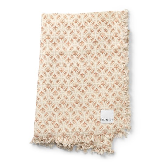 Elodie Soft Cotton Blanket Sweet Date White/Pink