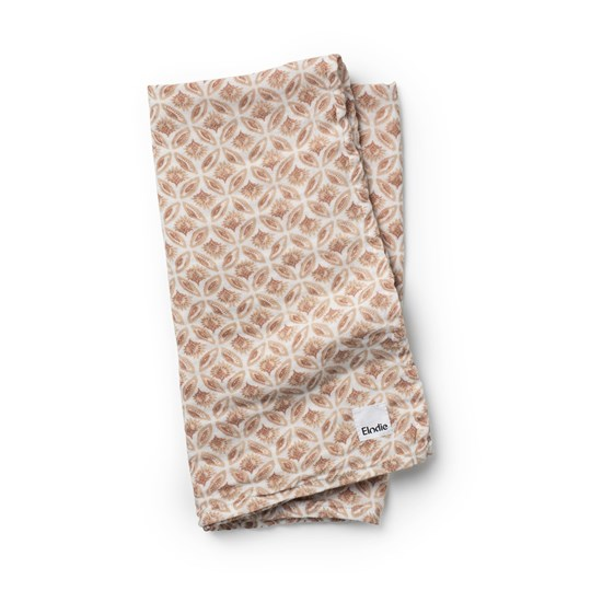 Elodie Bamboo Muslin Tæppe Sweet Date WHITE PINK