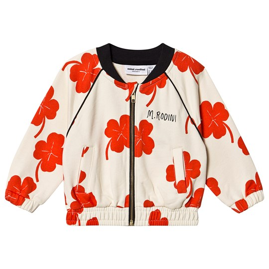 Mini Rodini Clover Jacket Off White White