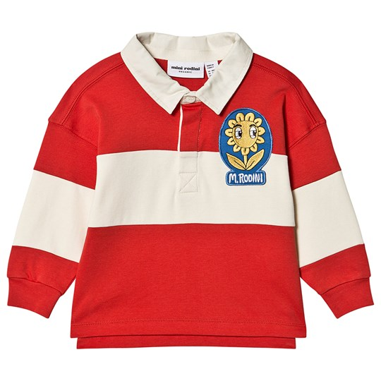 Mini Rodini Rugby Shirt Red Red