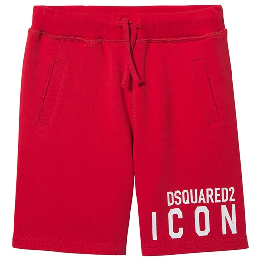 DSquared2 Icon Logo Sweat Shorts Red DQ411
