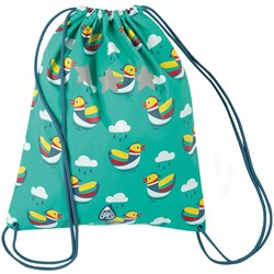Frugi Duck Bag Pacific Aqua Mandarin Ducks