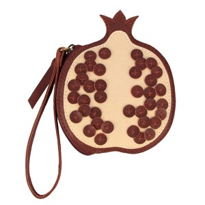 Image of Donsje Amsterdam Nanoe Frugt Coin Pouch Pomegranate One Size (1497555)