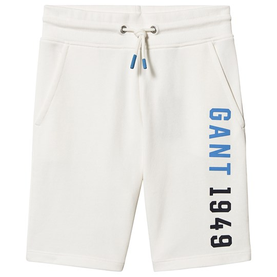 GANT White New Haven Logo Sweatshorts 113
