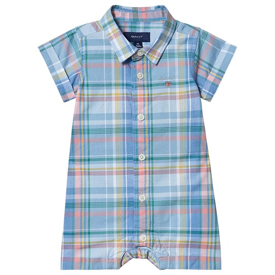 GANT Checked Romper with Small Shield Blue/Yellow 468