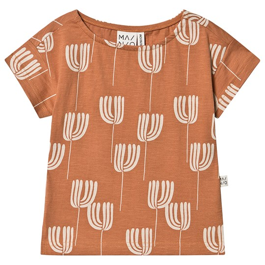MAINIO Tulip T-Shirt Slub/Toasted Nut Toasted Nut