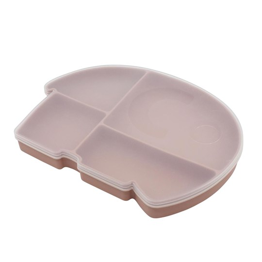 sebra Fanto Divided Plate with Lid Blossom Pink Pink