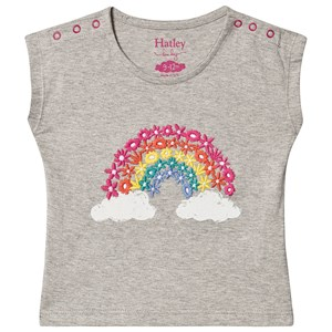 Image of Hatley Magical Rainbow Floral Baby T-shirt athletic grey 18-24 months (1539173)