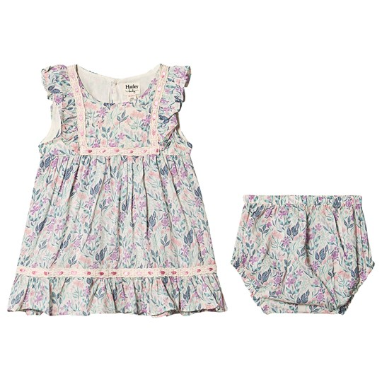 Hatley Floral Baby Party Dress and Bloomers Natural