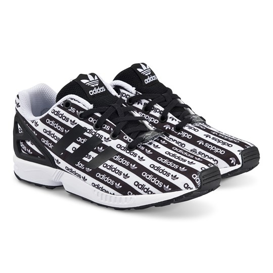 adidas Originals ZX Flux Sneakers Black Logo CORE BLACK/CORE BLACK/FTWR WHITE