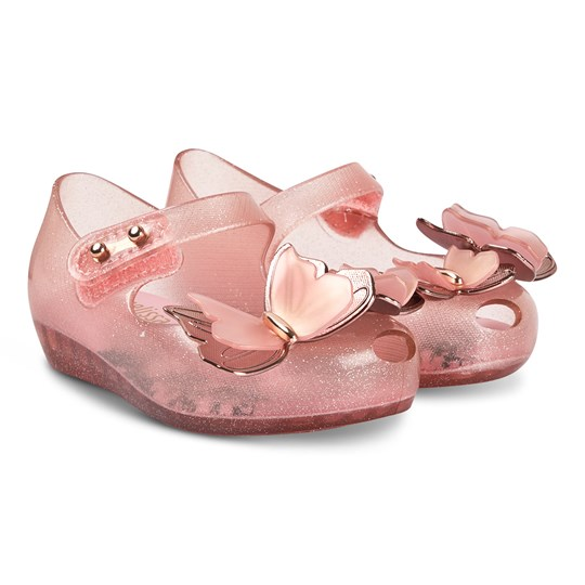 Mini Melissa Mini Butterfly Shoes Pink Glitter 52854