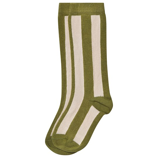 Sproet & Sprout Stripe Socks Green/Cream Tropical Green