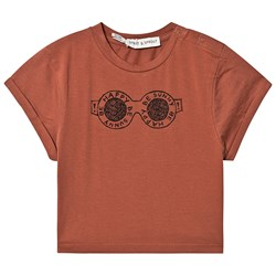 Sproet & Sprout Be Happy Be Sunny T-shirt Brun