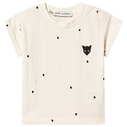 Sproet & Sprout Panther Dot Tee Cream 白色