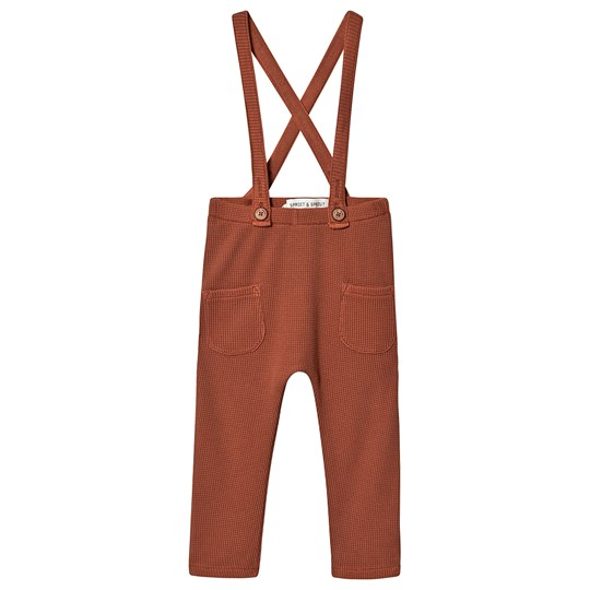 Sproet & Sprout Waffle Overalls Brown Mango