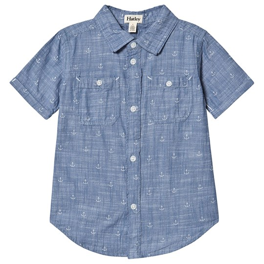 Hatley Chambray Anchor Shirt Blue Blue