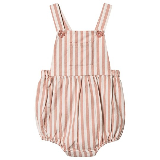 Louis Louise Stripe Overalls Pink Pink