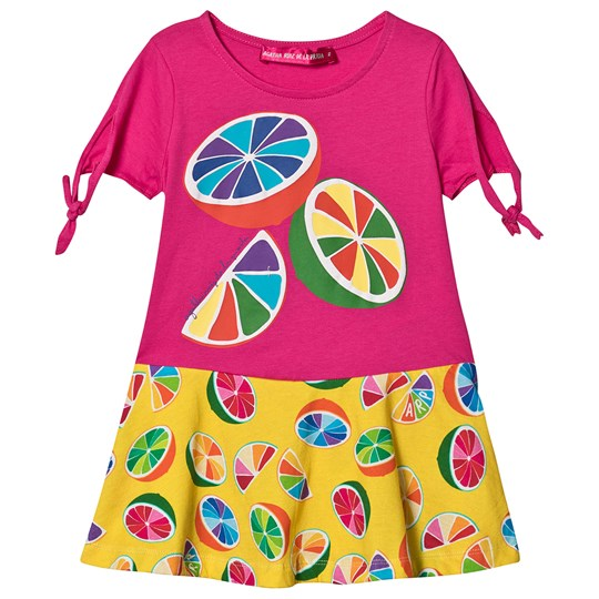 Agatha Ruiz de la Prada Tutti Frutti Lemon Dress Pink/Yellow Multicolor