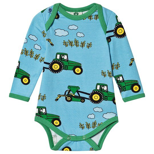 Småfolk Tractor Baby Body Blue Grotto Blue Grotto
