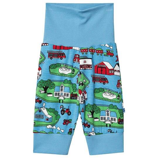 Småfolk Landscape Baby Sweatpants Blue Grotto Blue Grotto