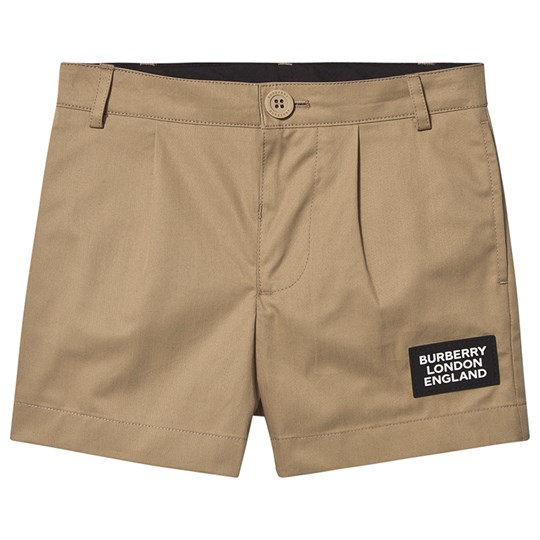 Burberry Logo Shorts Archive Beige A7026