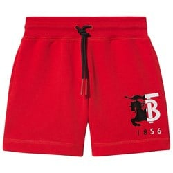 Burberry Logo Shorts Bright Red