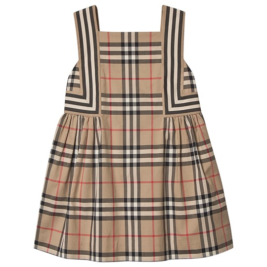 Burberry Vintage Check Flared Dress Archive Beige A7028