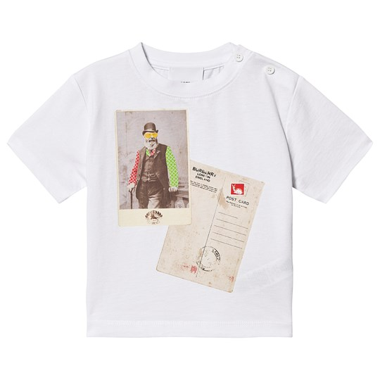 Burberry Postcard Baby T-Shirt White A1464