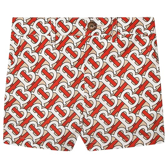 Burberry Monogram Baby Shorts Vermillion Red A7294