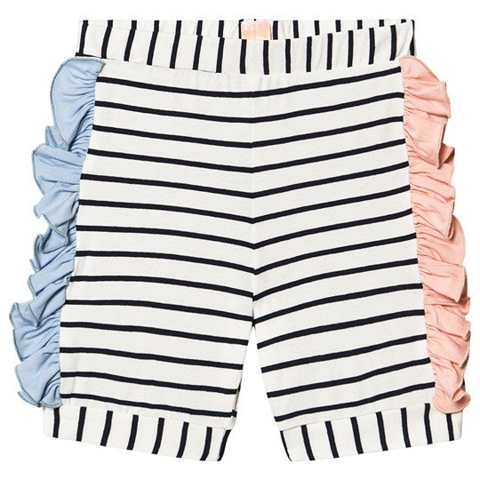 Wauw Capow Pop Shorts White Black and White stripes