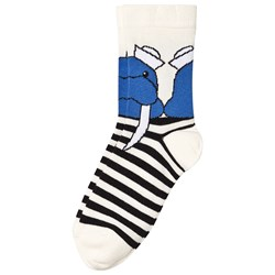 Wauw Capow Russel Socks White Stripes