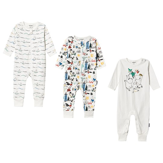 Moomin 3-Pack Moomin One-Pieces White