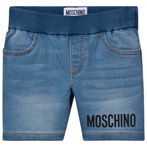 Image of Moschino Kid-Teen Logo Pull Up Shorts Blå 6-9 months (1531240)
