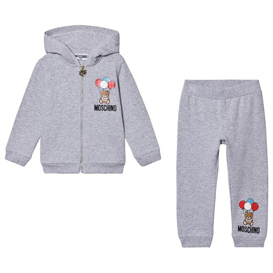 Moschino Kid-Teen Balloon Bear Sweat Suit Grey 60926