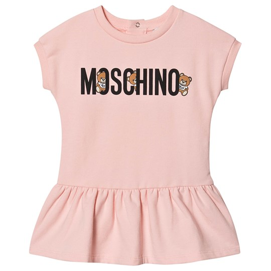 Moschino Kid-Teen Bear Dress Pink 50209