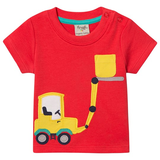 Frugi Forklift Tee Red Koi Red/Truck