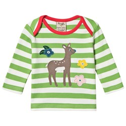 Frugi Deer T-shirt Kiwi Stripe