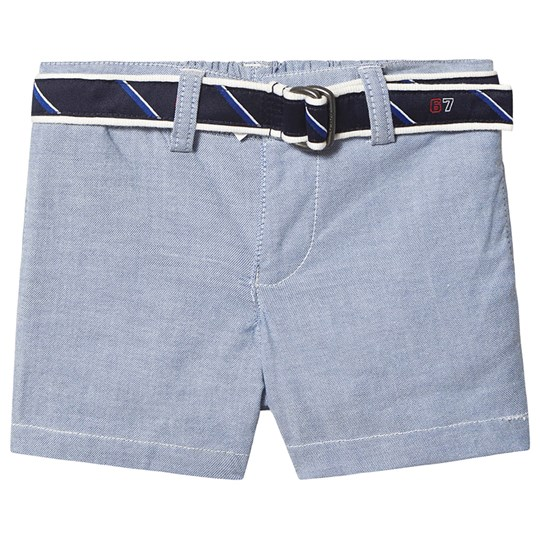 Ralph Lauren Belted Oxford Chino Shorts Blue 001