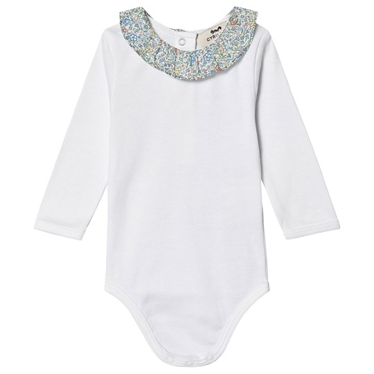 Cyrillus Elmo Liberty Baby Body Vit Blanc + Liberty Katie And Millie