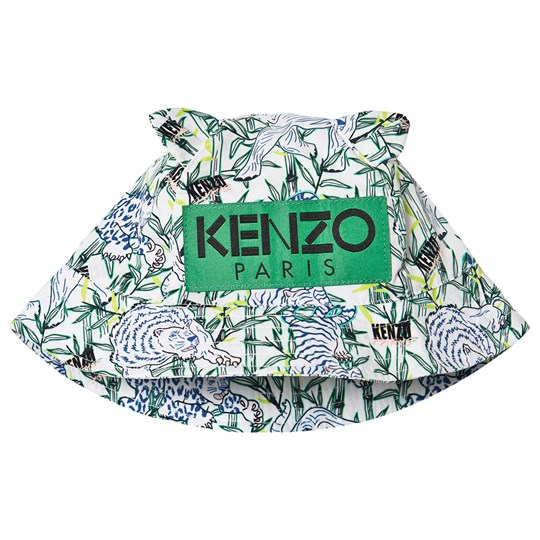 Kenzo Logo Bucket Hat Optic White 01