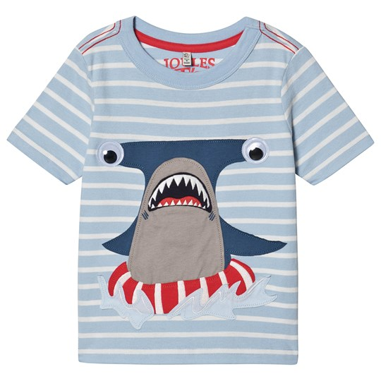 Tom Joule Archie Shark T-shirt Pale Blue Blue Stripe Shark
