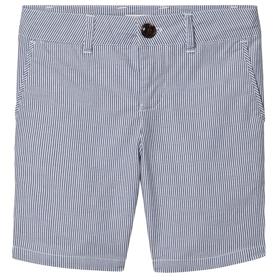 Cyrillus Gabin Chino Shorts Blue Stripe Sable/Bleu Doux