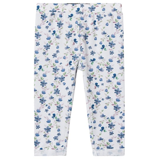 Guess Blommiga Leggings Vit/Blå P077